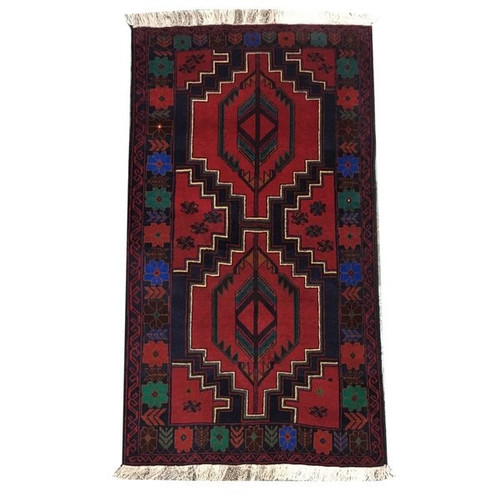 "—2'11""x5'4"" Traditional Tribal Hand Knotted Rug"