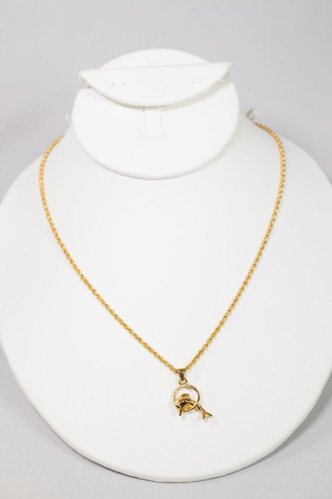 18k Gold Plated  Dolphine Neclace