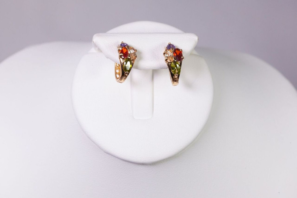 10k 4-Color  Earrings