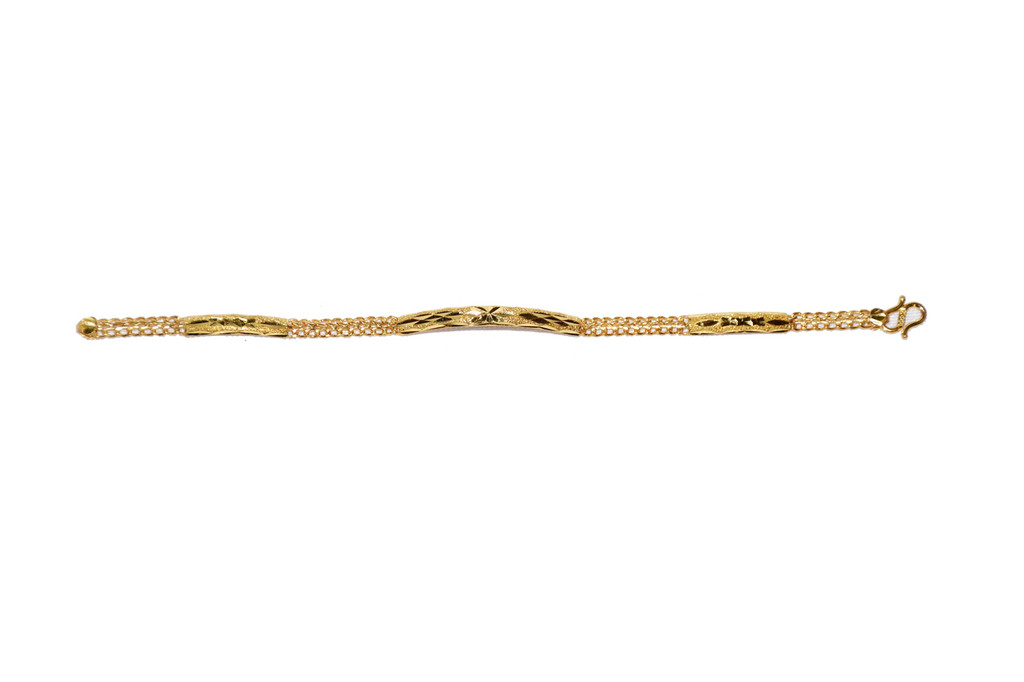 24k Solid Yellow Gold Bracelet