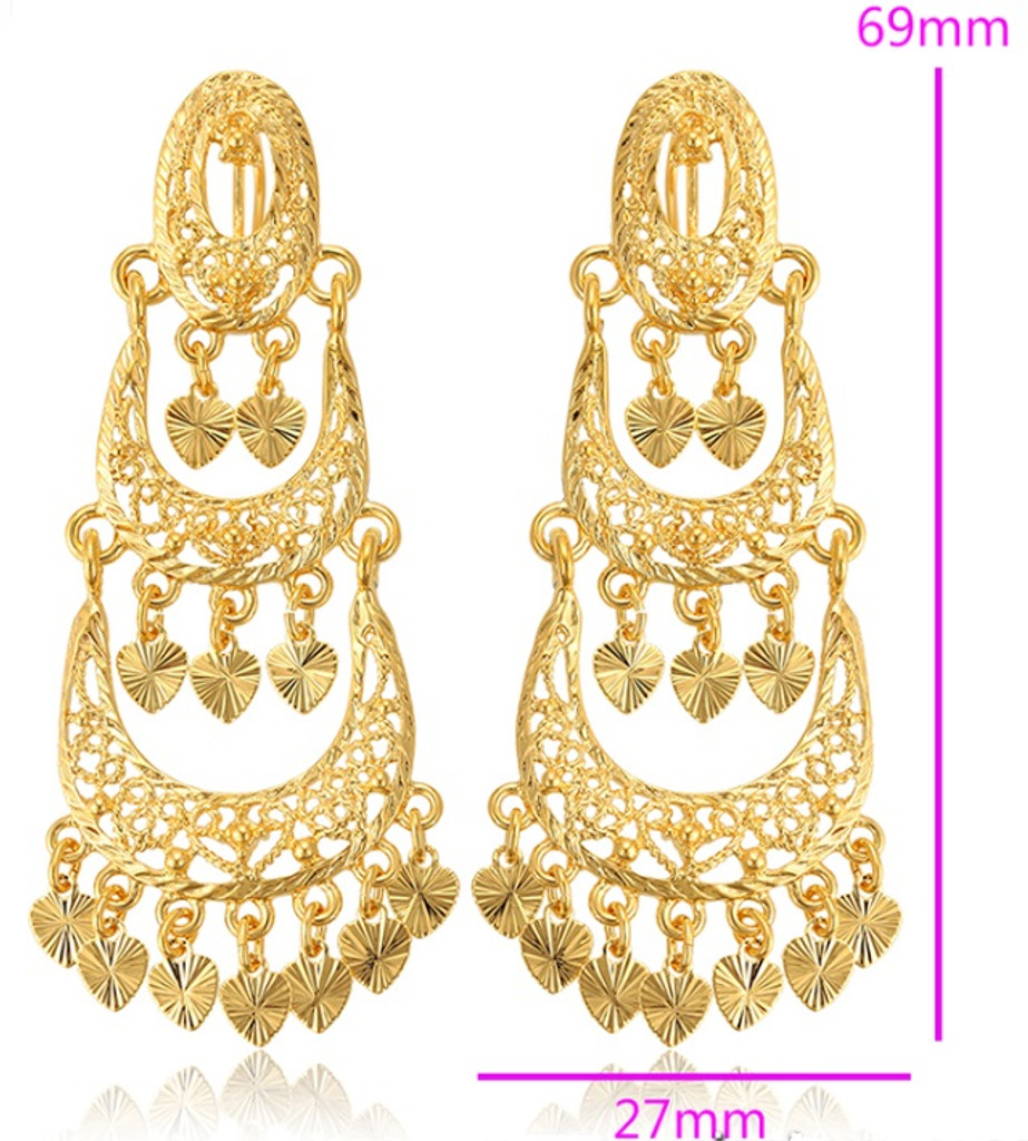 24k Gold-Plated Fashion Earrings