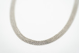 Silver Necklace 5-Strand Bead