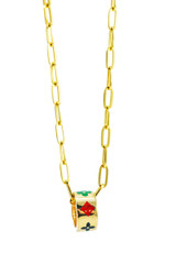 18k Solid Yellow-Gold Necklace 16 Inches