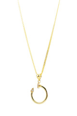 18k Solid Yellow-Gold Necklace 18 Inches Long