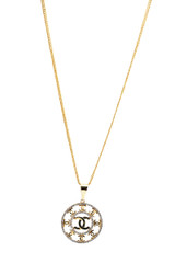 18k Yellow-Gold Pendant Necklace With Diamonds 18 Inches Long