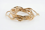 18k Yellow Gold  7-day Squiggly Bracelets