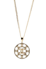 18k Yellow-Gold Pendant Necklace With Diamonds 20 Inches Long
