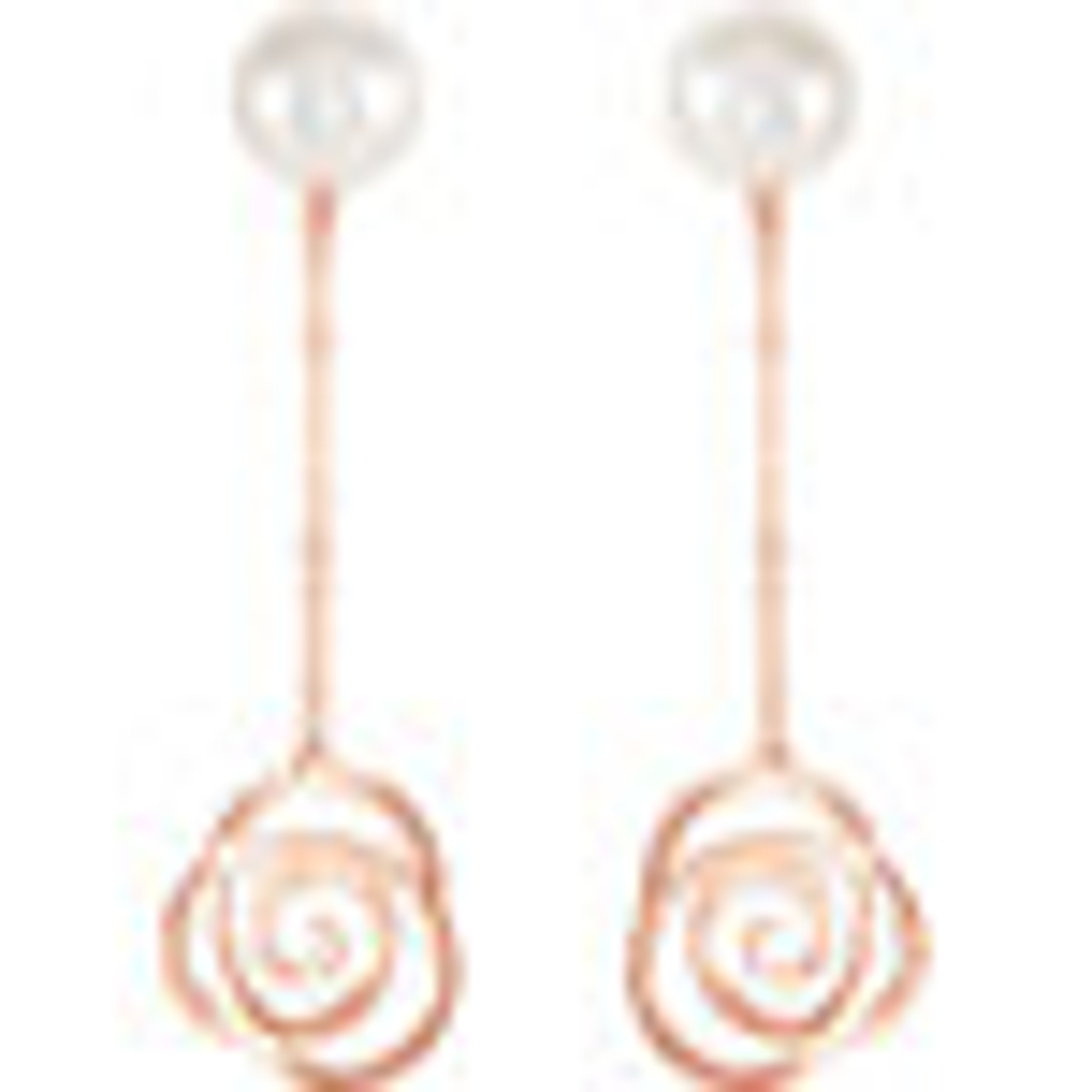 Rose Gold Necklace and Earrings Set