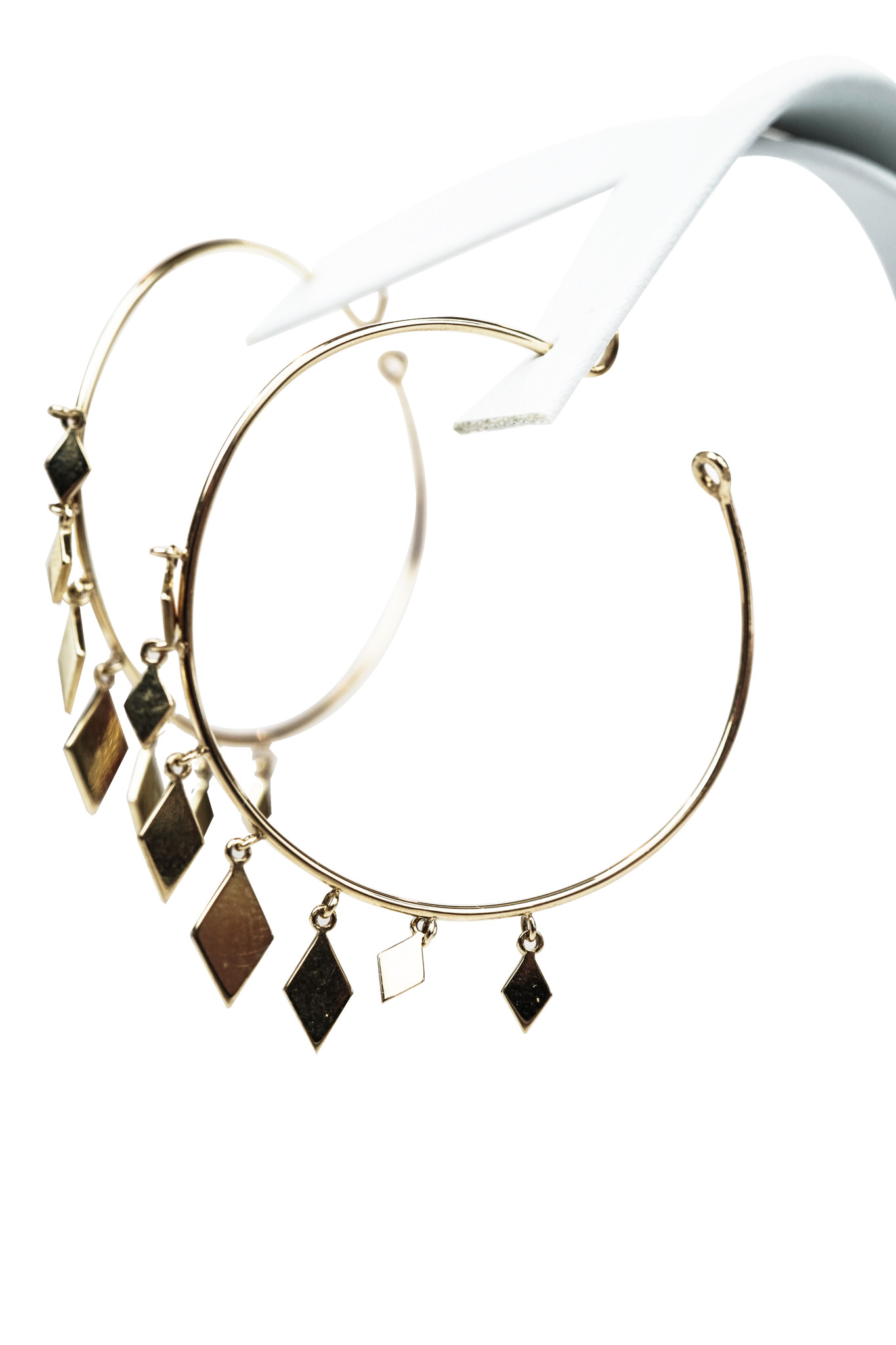 18k Yellow-Gold Earrings S 1.56 Inches L