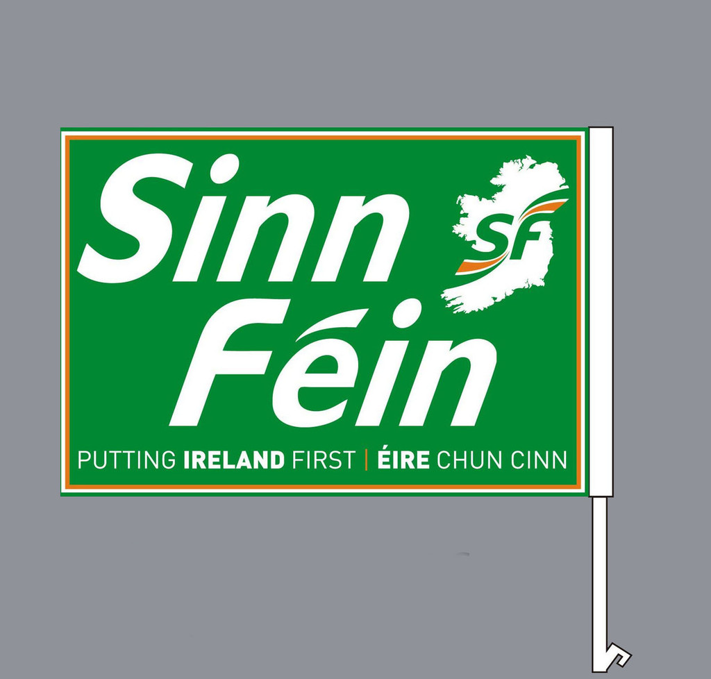 Sinn Féin Car Flags (Set of two. Right and Left)