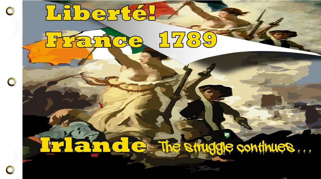 Liberte, Egalite, Fraternite/Liberty, Equality, Fraternity Flag
