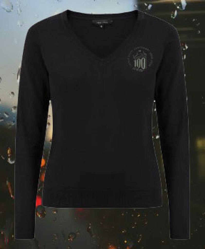 Womens 100 Years Easter Rising V Neck Sweater