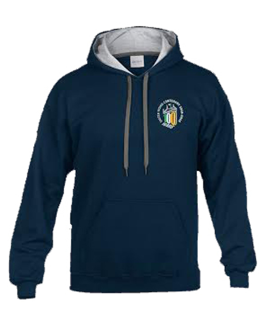 MEN'S CENTENARY NAVY HEAVY BLEND CONTRAST HOODIE
