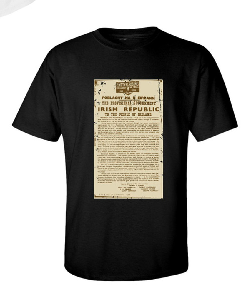 PROCLAMATION OF THE IRISH REPUBLIC T SHIRT BLACK