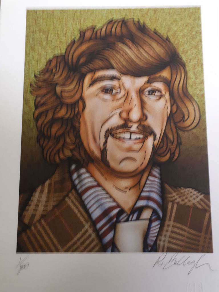Limited edition print numbered and signed by Bobby Ballagh  A3 size ( 29.7 x 42.0cm, 11.69 x 16.53 inches)