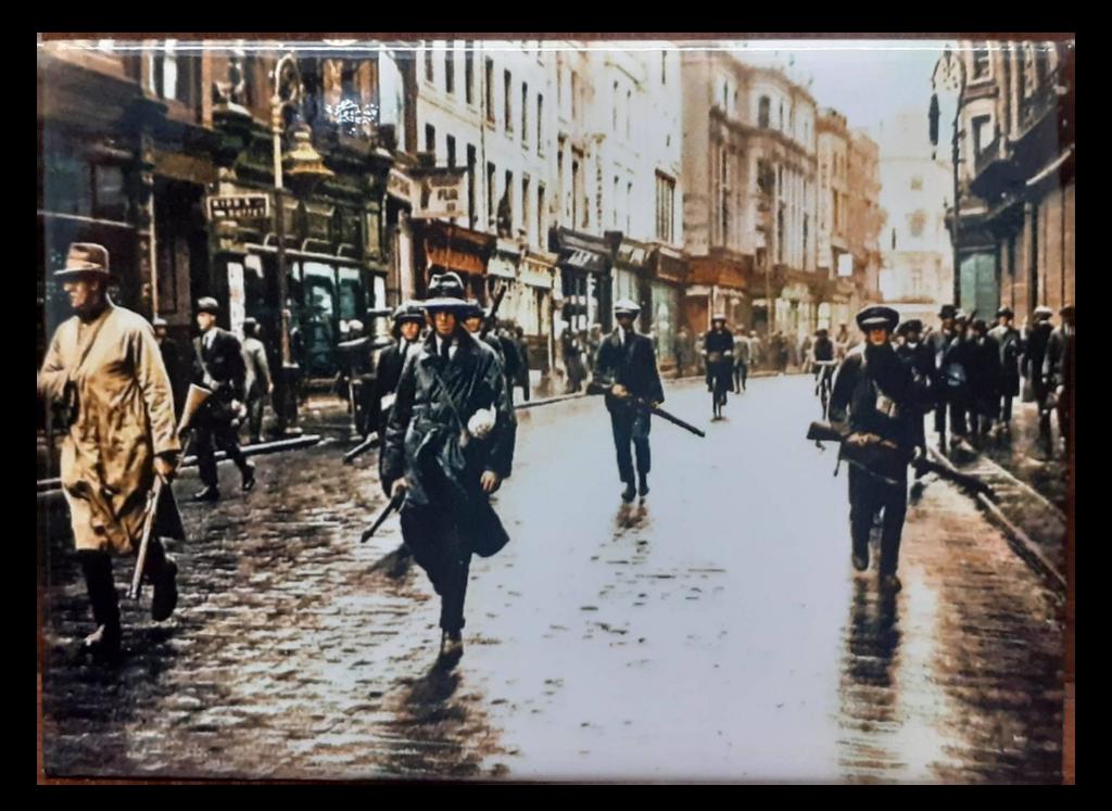 IRA Unit Patrol Grafton Street, Dublin, Ireland - 1922 Fridge Magnet
