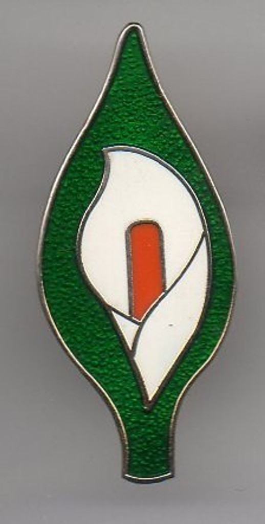 Easter Lily metal badge