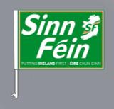 Sinn Féin Car Flags (Set of two. Right and Left)