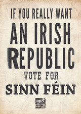 If You Really want an Irish Republic Poster Signed by Mary Lou McDonald and Pearse Doherty TD TD