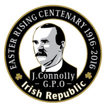James Connolly 1916 Centenary  Badge