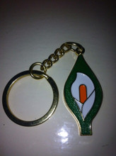 Easter Lily Key Ring
