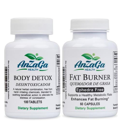 AnZaGa Fat Detox Package - Quemador y Detox