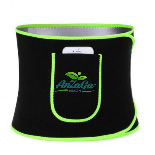Sweat Waist Trimmer Belt, protective coatings Trainer Band, Stomach Fat Burner with Pocket