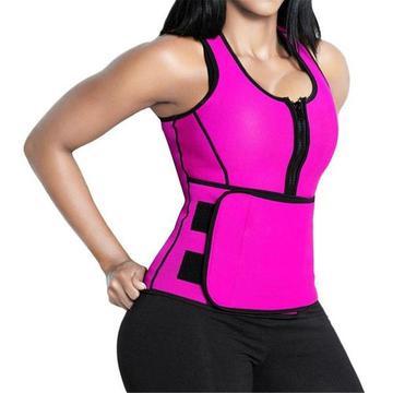 7a2623025 Neoprene Hot Sweat Adjustable Trainer Vest- Pink - AnZaGa