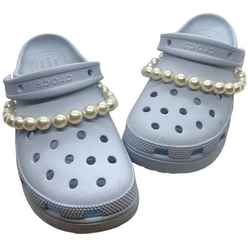 Pearl chain 2pcs shoes Charms for crocs