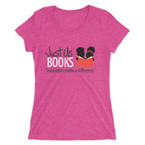 Good Books Make a Difference Women's T-shirt (PINK)