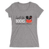 Good Books Make a Difference Women's T-shirt (LIGHT GRAY)