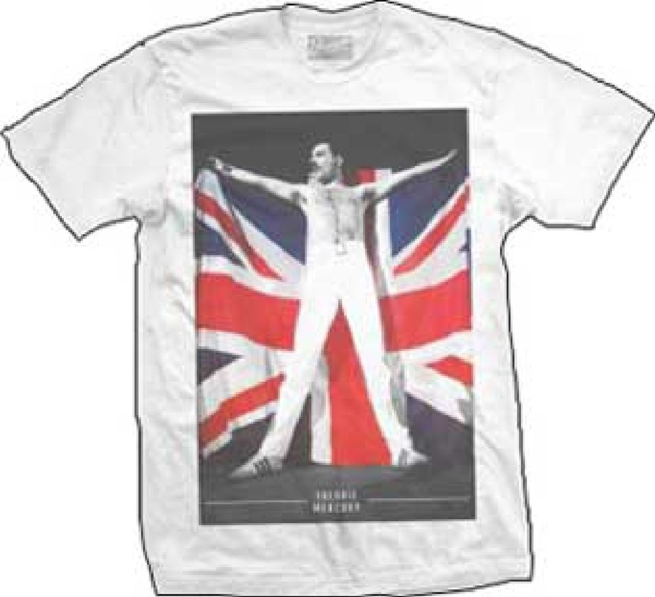 487f0f2fc Queen Freddie Mercury Holding Union Jack British Flag Photograph Hungarian  Rhapsody Queen Live in Budapest Men's