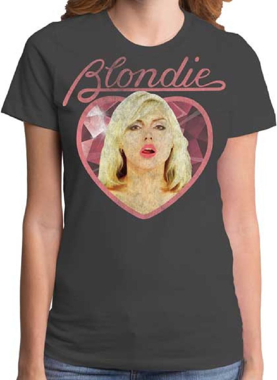 20437c9a365 Blondie Vintage T-shirt - Debbie Harry | Women's Gray Shirt