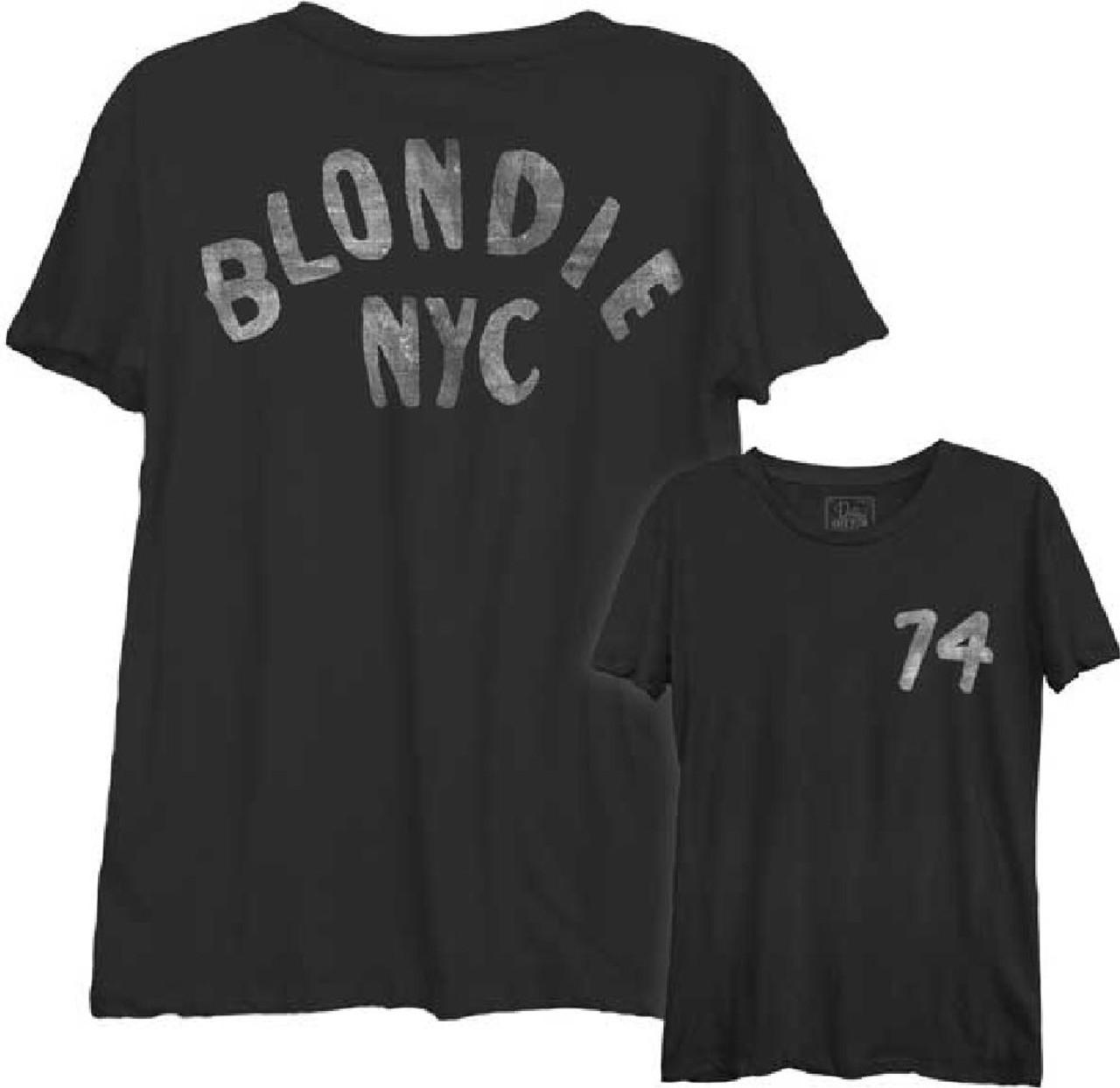 0ee96e22f812 Blondie T-shirt - NYC '74   Women's Black Shirt by Dirty Cotton ...