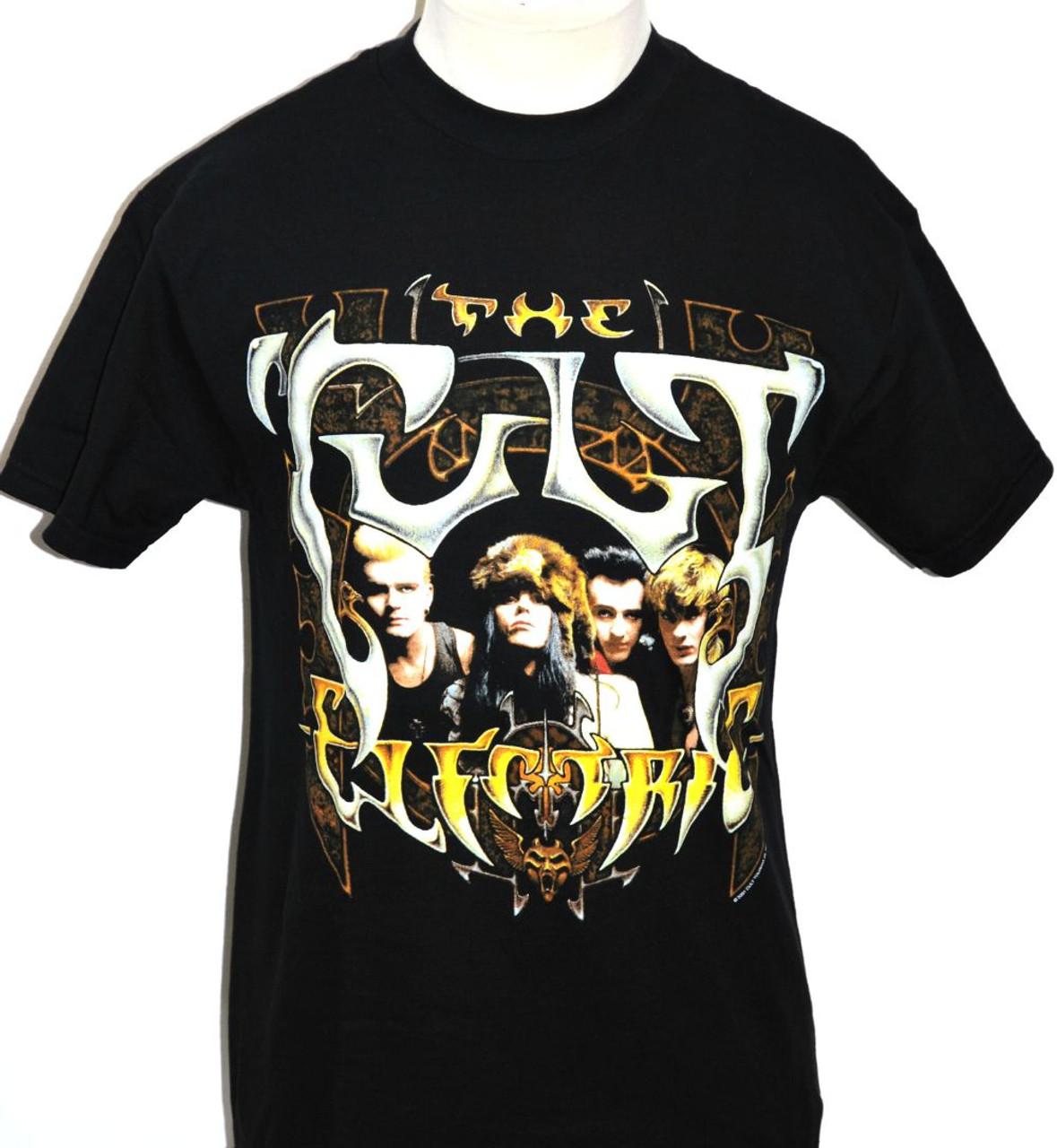 The Cult T-shirt Electric Album Cover Artwork Men s Black - Rocker Rags 4237f0268
