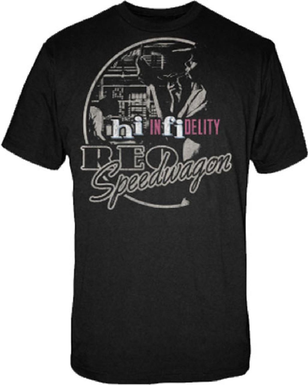 REO Speedwagon T-shirt - Hi Infidelity Album Cover Artwork  Men's Black  Vintage Shirt