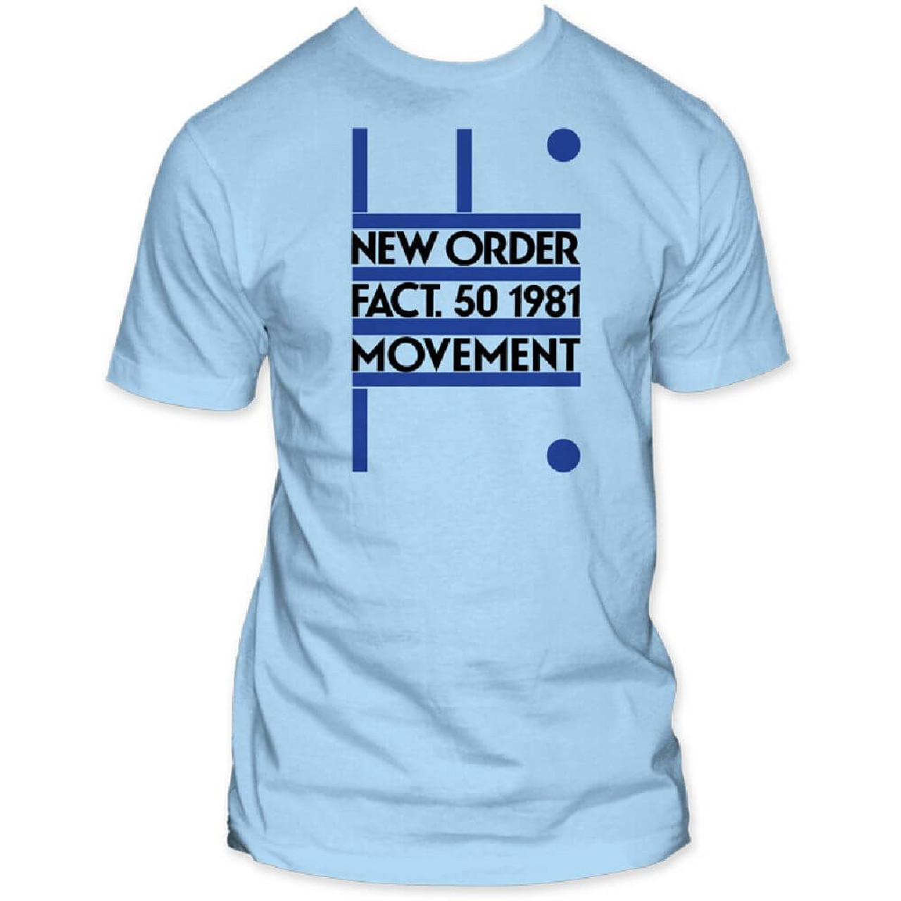 0fd4d7aa New Order T-shirt - Movement Debut Album Cover Artwork. Men's Blue ...