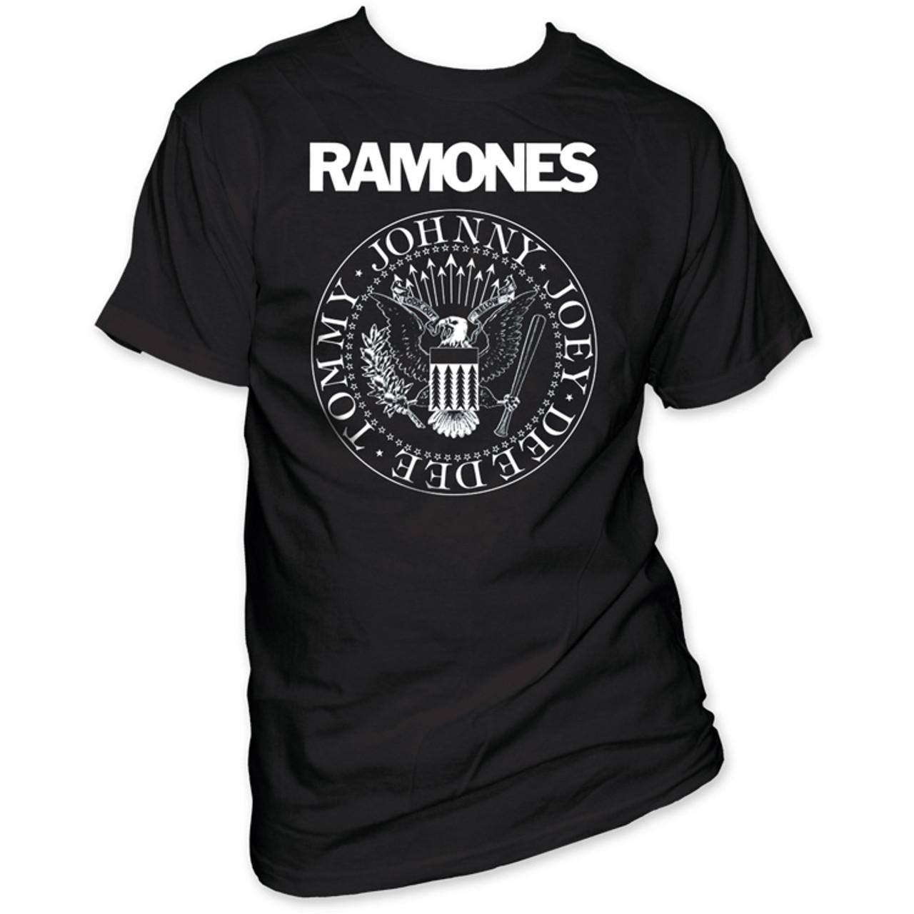 83705d7a9dd5a Ramones T-shirt - Presidential Seal Logo. Men s Black Shirt - Rocker ...