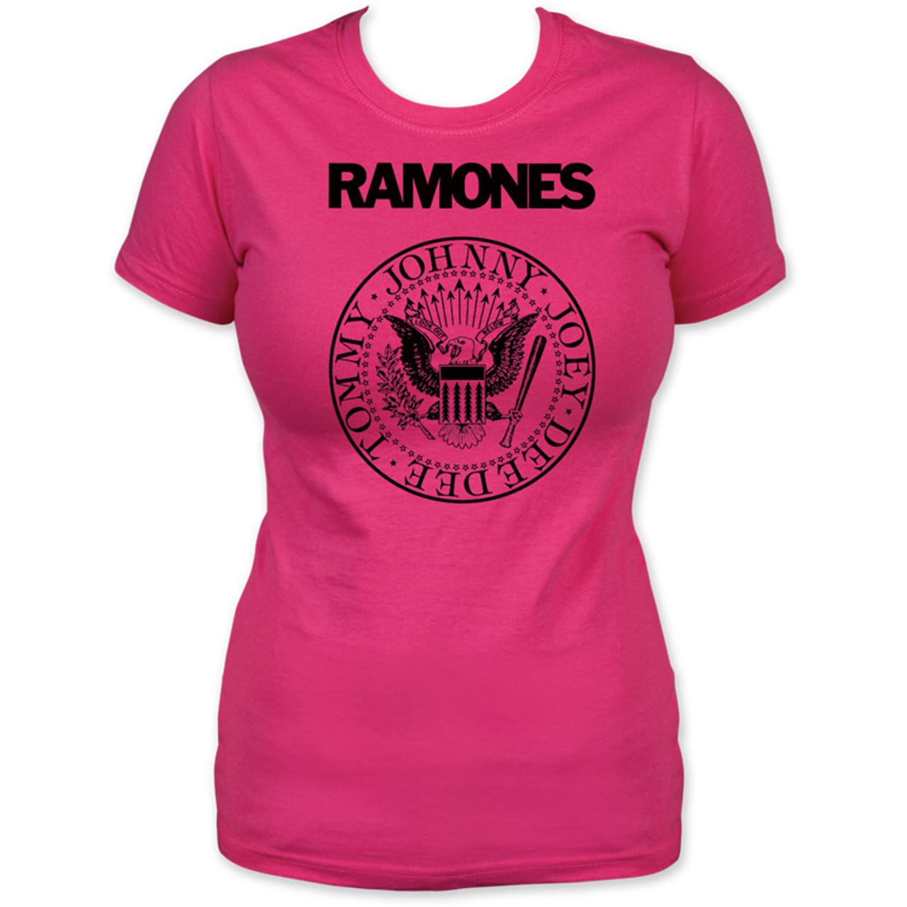 281c19d85 Ramones Logo T-shirt - Ramones Presidential Seal Logo. Women's Pink ...