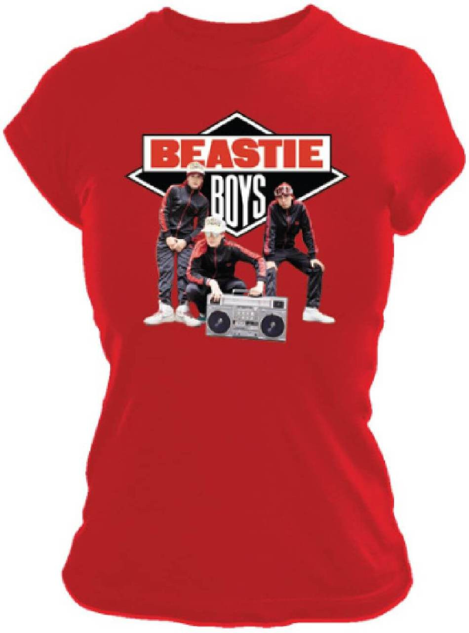 0e88cc968593 Beastie Boys Solid Gold Hits Album Cover Artwork Women's Red T-shirt