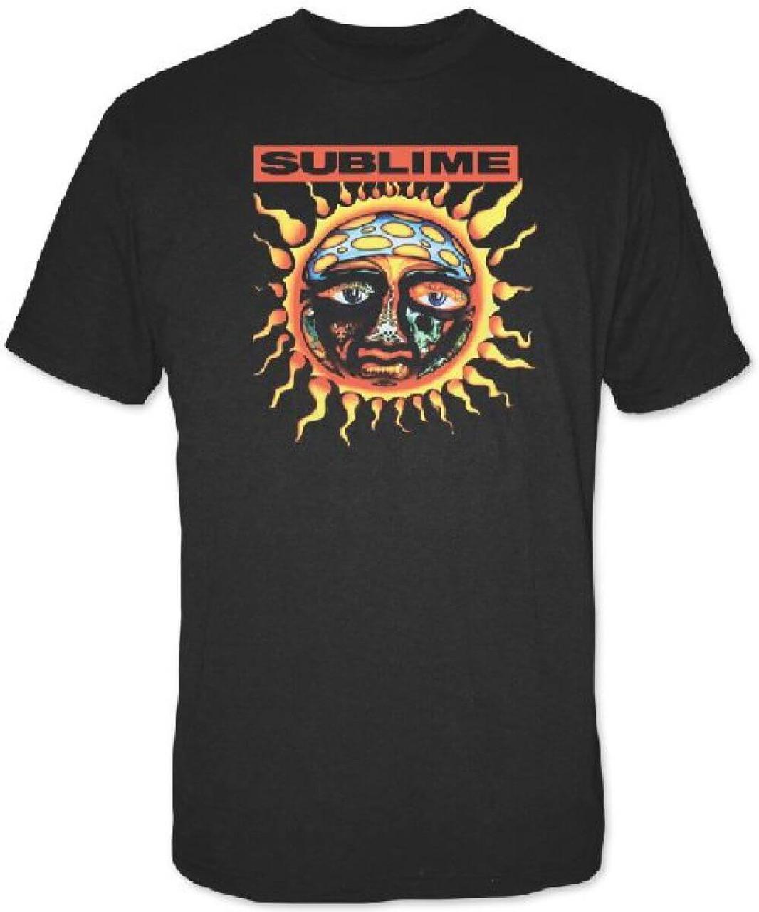 Sublime T-shirt - Sun Logo from 40 Oz  to Freedom Album Cover  Men's Black