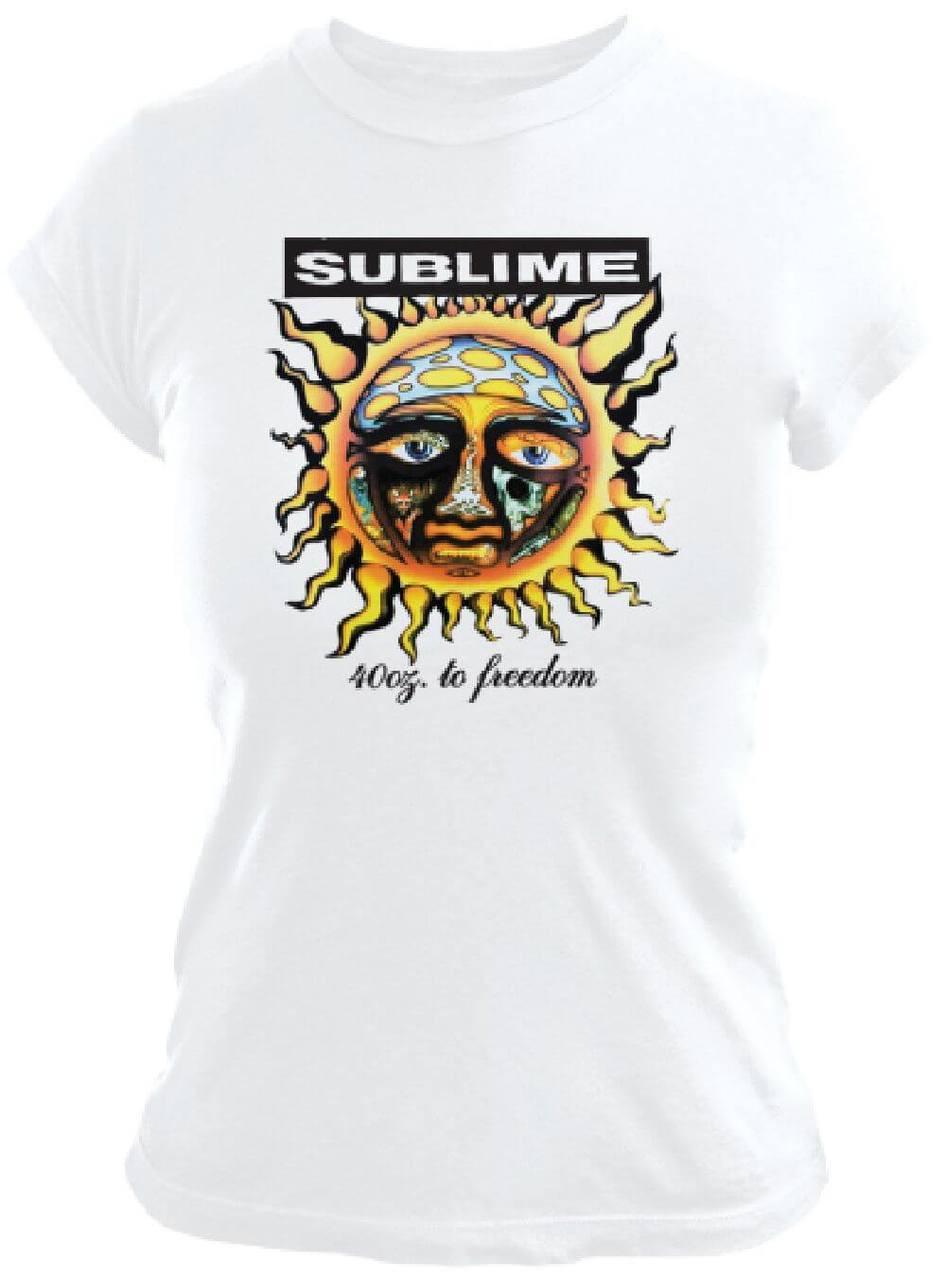 0bf6db5ae90 Sublime Album Cover T-shirt - 40 Oz to Freedom Artwork