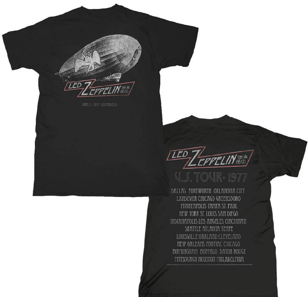ddacb5ada6c6b Led Zeppelin 1977 United States of America Tour Los Angeles June 21