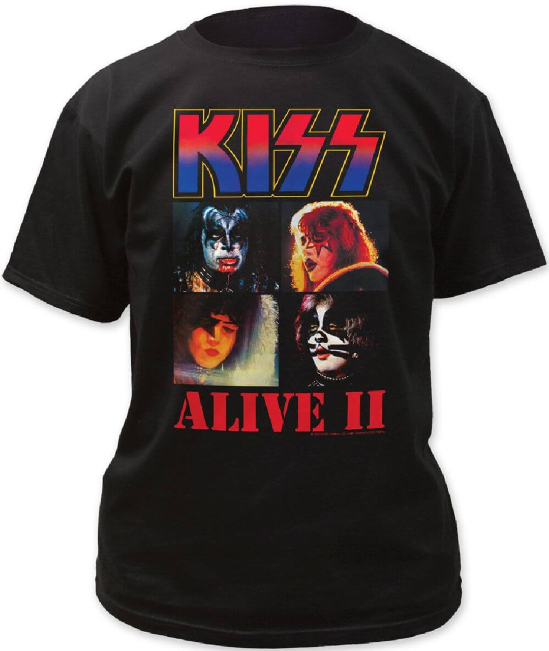 2bb43566a Kiss Alive II Album Cover Artwork Men's T-shirt | Rocker Rags