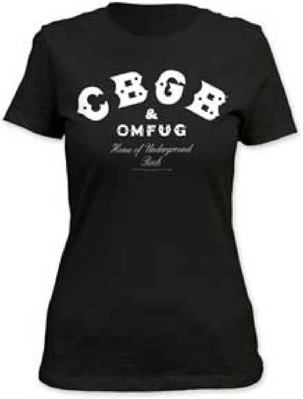 bbe264c8b CBGBs Women's T-shirt - Home of Underground Rock Logo | Women's Crew Neck