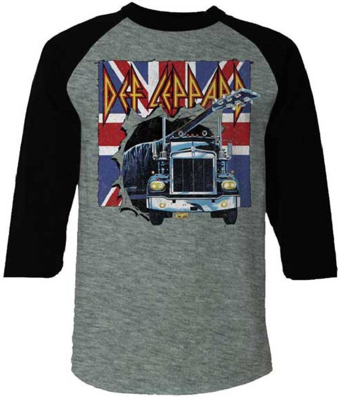 3bad5538595 Def Leppard Logo with the On Through the Night Album Cover Semi Truck  Artwork and Union