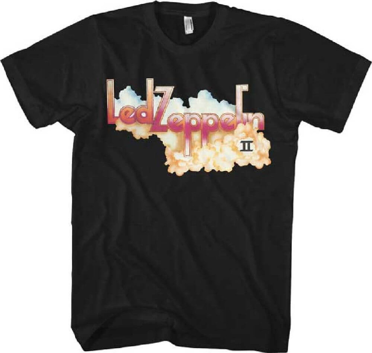 Led Zeppelin T-shirt - Led Zeppelin II Album Cover Artwork | Men's Black  Shirt