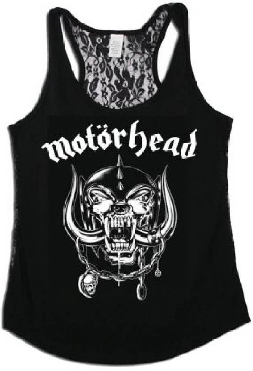 4185f0705386f7 Motorhead War Pig Snaggletooth Logo Women s Black Tank Top T-shirt
