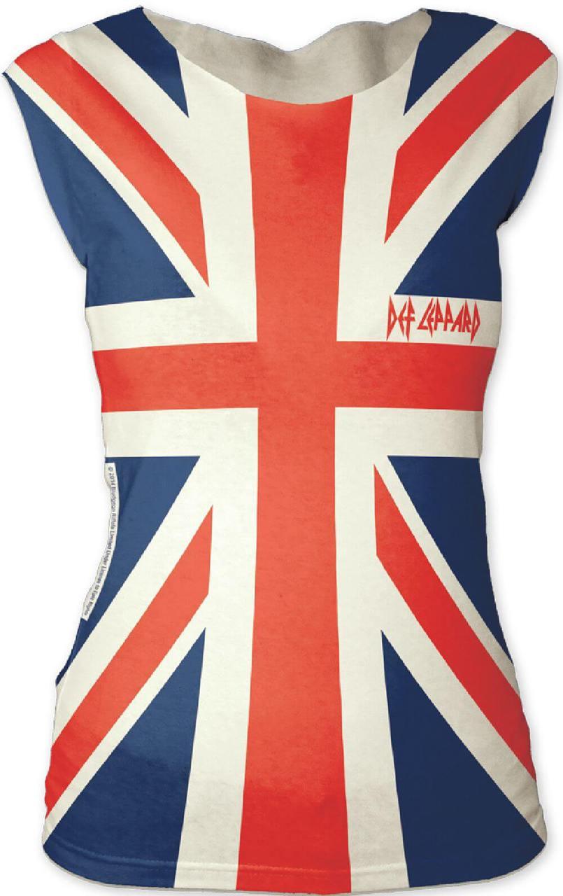 883e2b51 Def Leppard Union Jack British Flag Logo Women's Sleeveless T-shirt