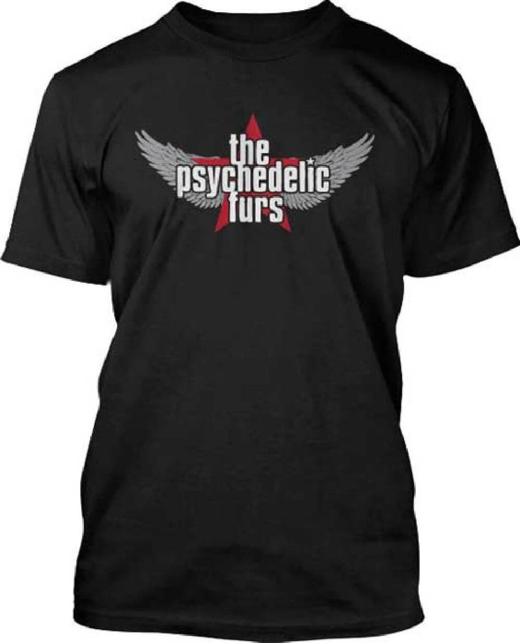 cf9a252a9689c5 The Psychedelic Furs Logo Men's Black T-shirt | Rocker Rags
